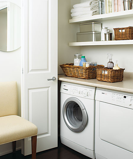 Closet Laundry Room Via House And Home Twoinspiredesign