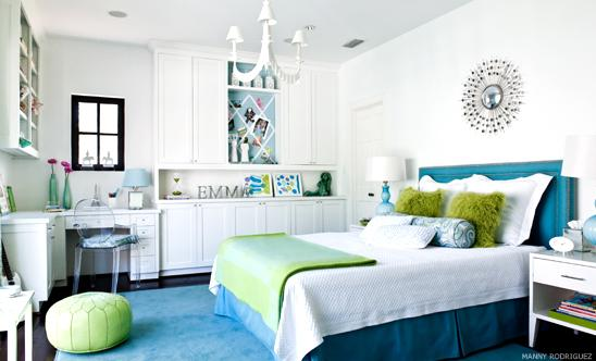 gallery for blue and green bedroom designs