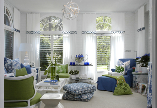 Blue Green White Living Room Twoinspiredesign
