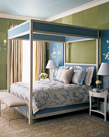 martha stewart blue green bedroom