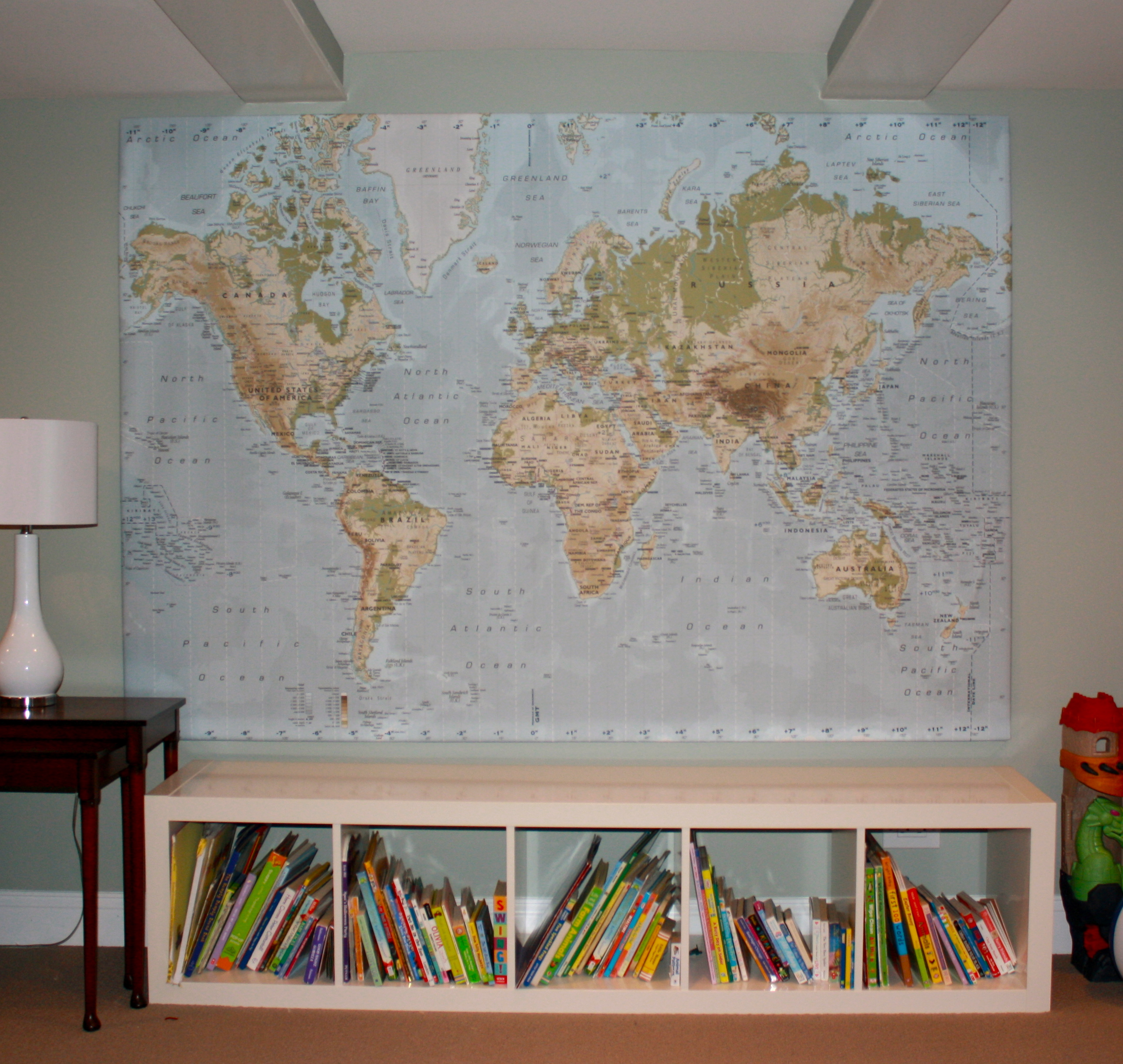 IKEA World Map Twoinspiredesign - World map for playroom