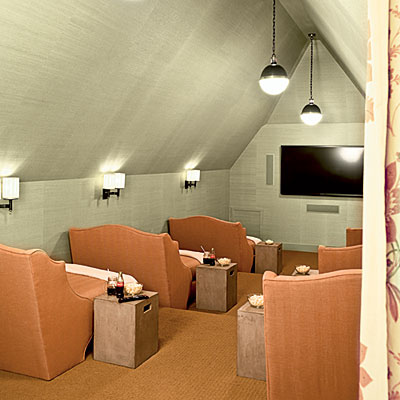 Attic Home Theater | twoinspiredesign