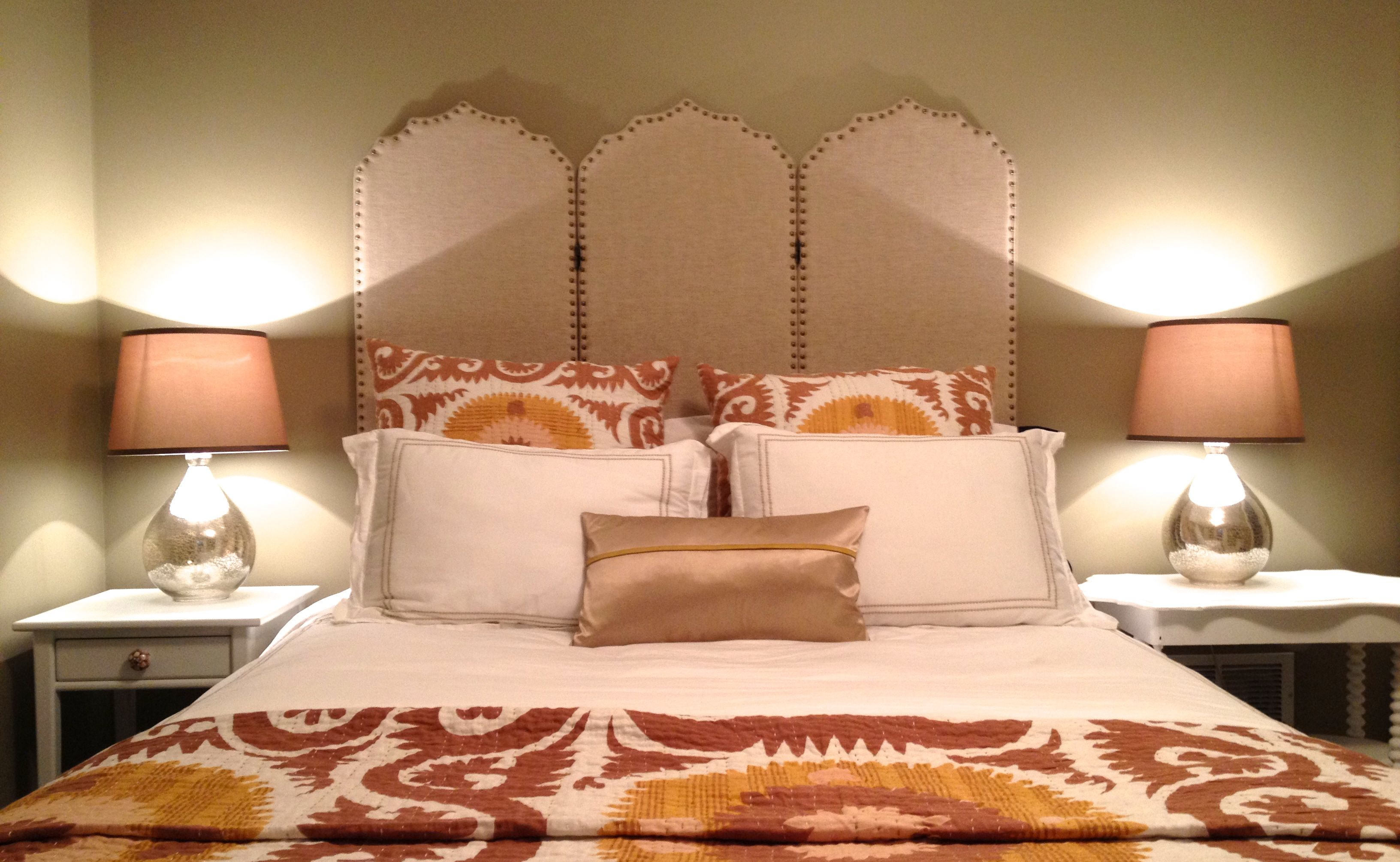 guest bedroom world market headboard twoinspiredesign
