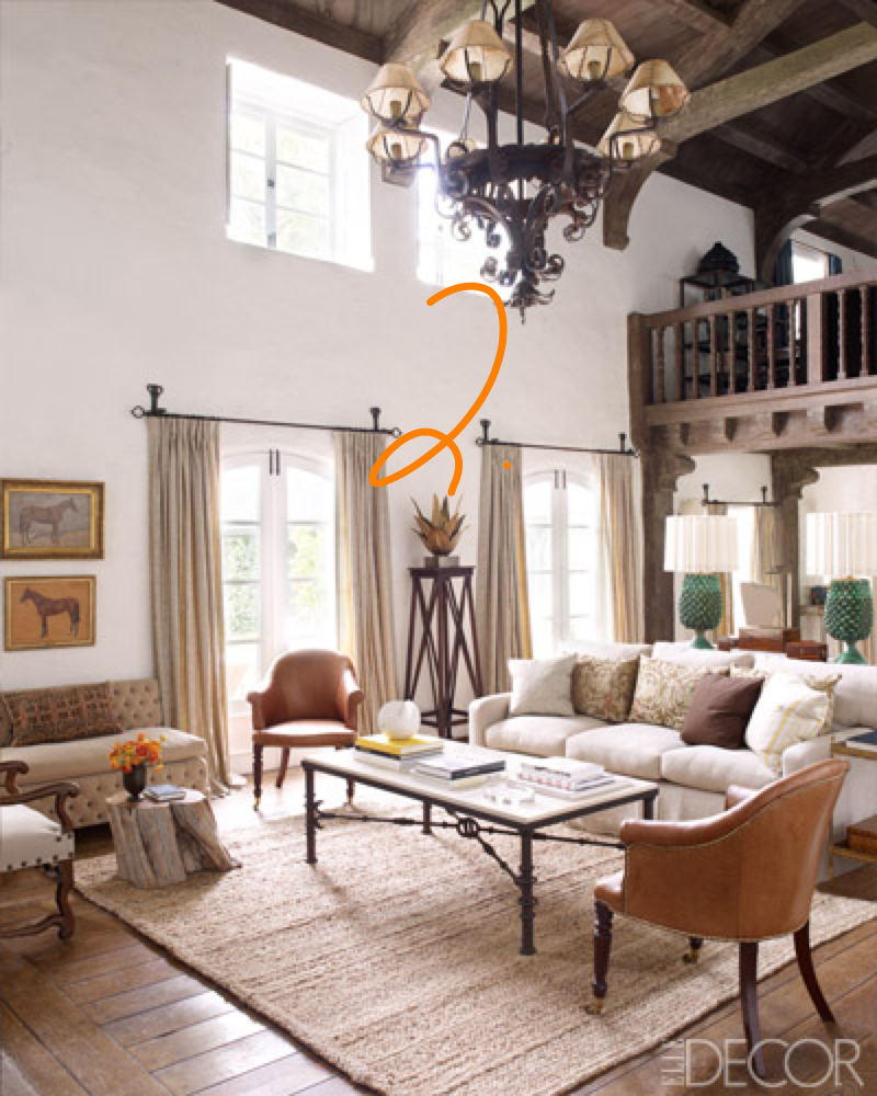 Inspiration for a reader s spanish colonial living room Modern colonial interior design