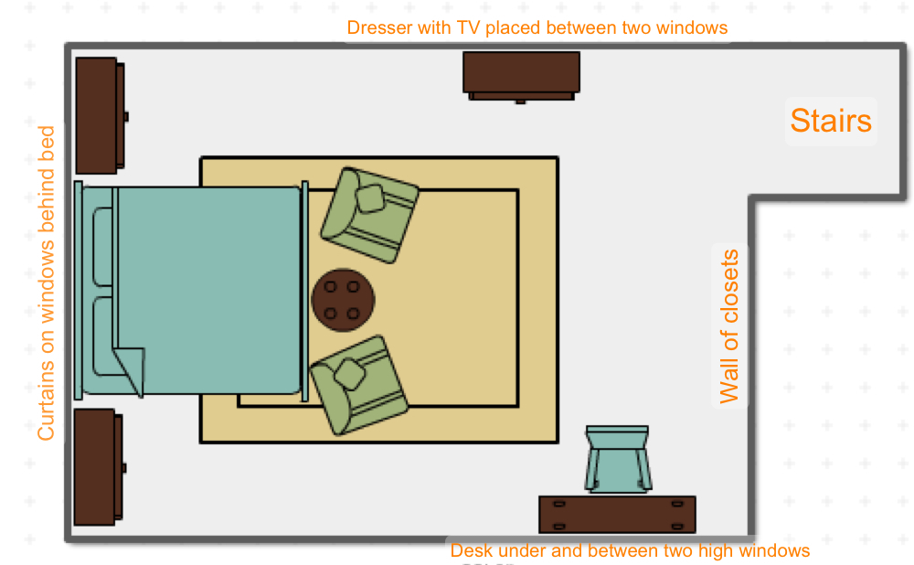 Furniture plan-not to scale