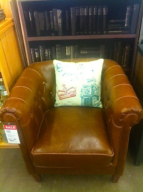 World Market Leather Club Chair