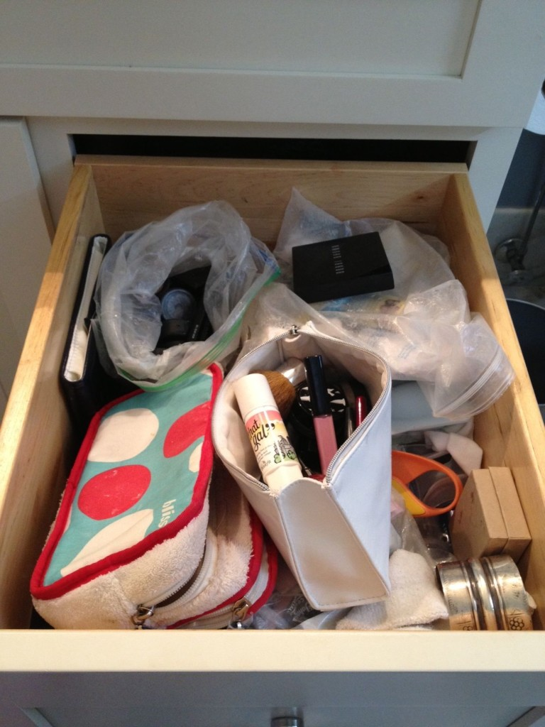 Cosmetic drawer before