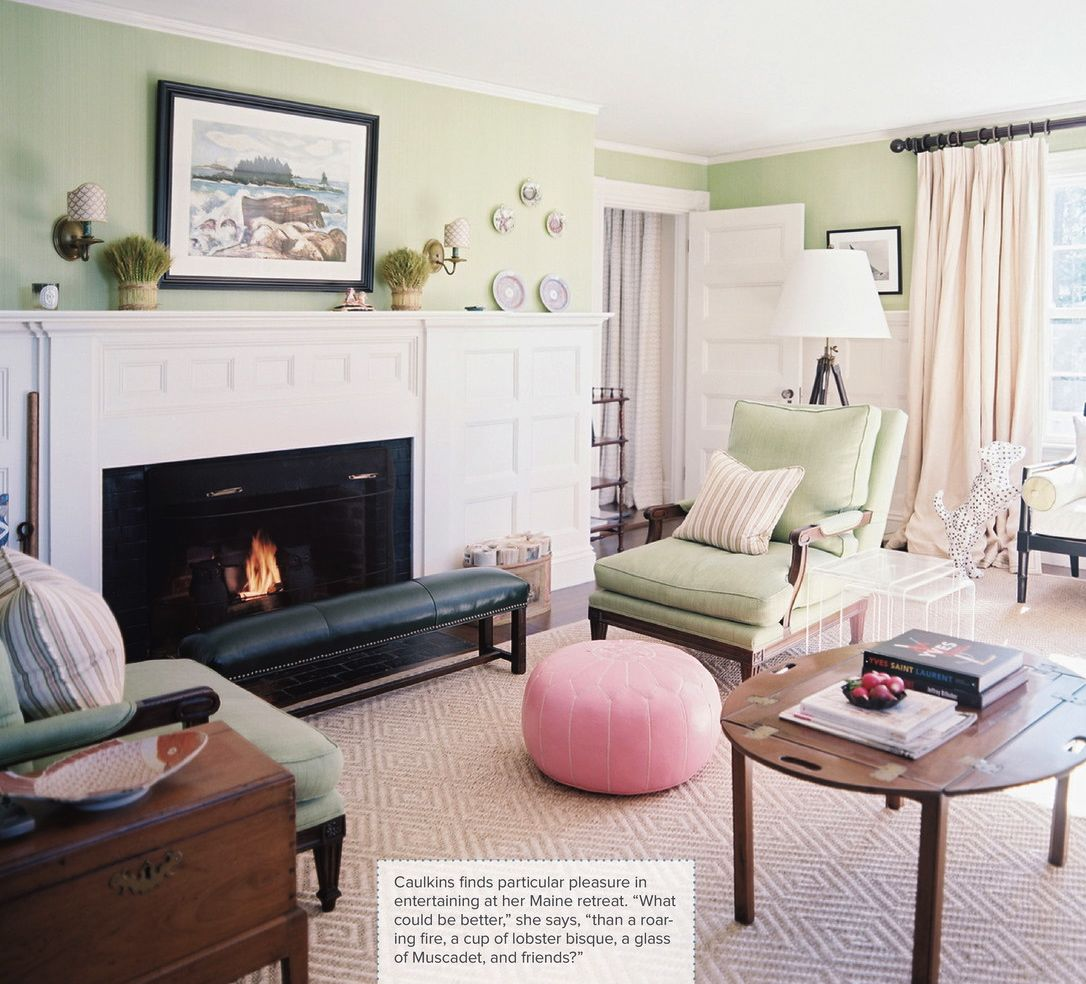 Pink Morrocan Pouf In Traditional Living Room Via Lonny Twoinspiredesign