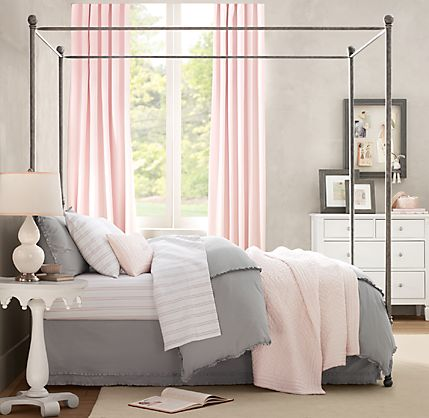 Pink And Gray Bedroom - Rigakublog.com -
