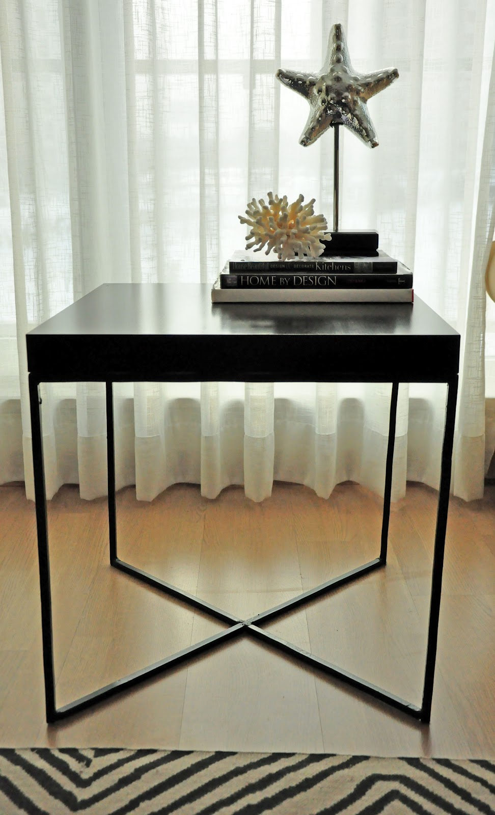 ikea lack side table hack twoinspiredesign. Black Bedroom Furniture Sets. Home Design Ideas