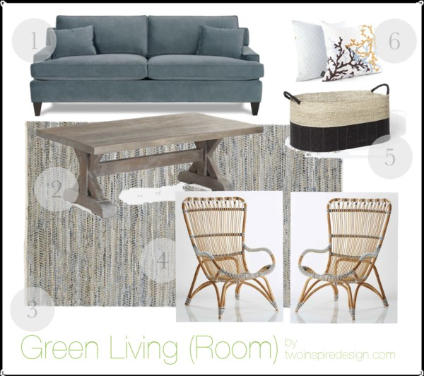 Eco Friendly living room design