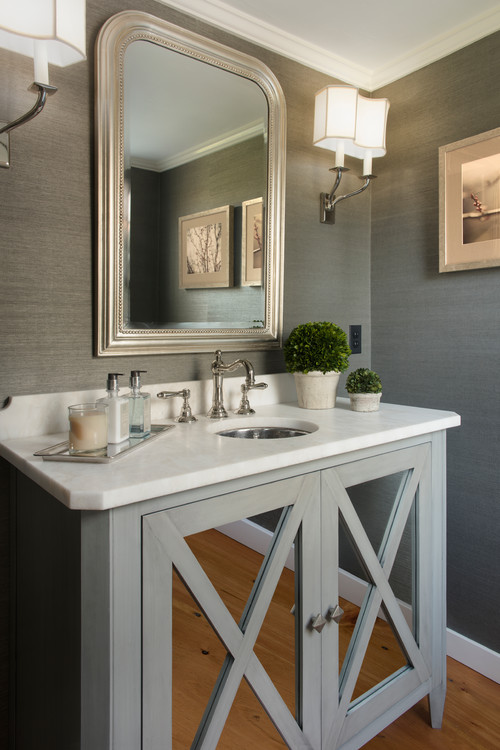 Powder room project twoinspiredesign Very small powder room ideas