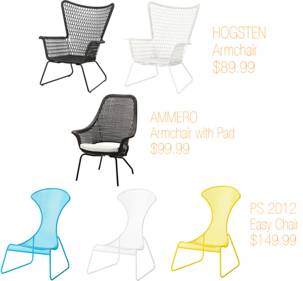 Outdoor Wire Chairs From IKEA