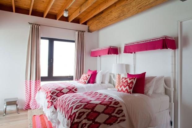 pink ikat chevron girls bedroom designed by vanessa de vargas