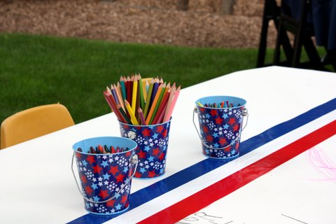 July 4 Party 4 Kids Table