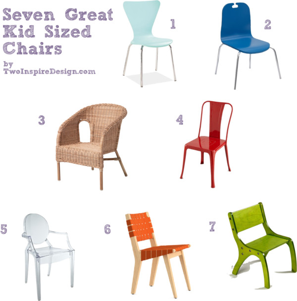 Seven great kid sized chairs twoinspiredesign for Kid sized furniture