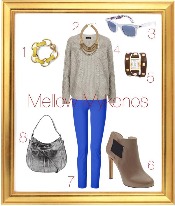 Pantone Mykonos Blue outfit