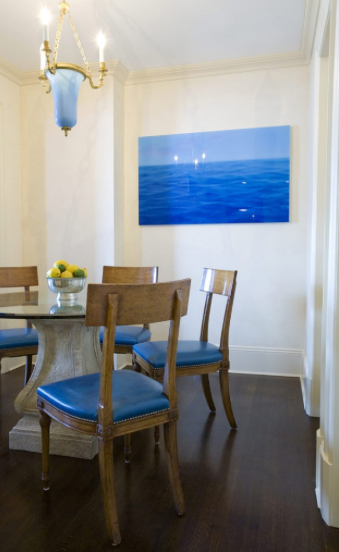 Amanda Nisbet Design Mykonos blue dining room