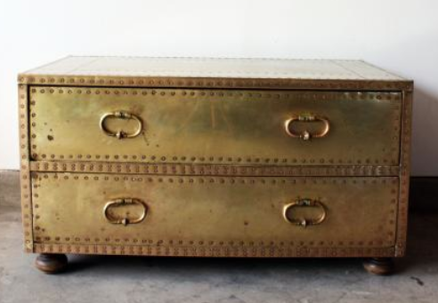 Brass trunk from furnishly
