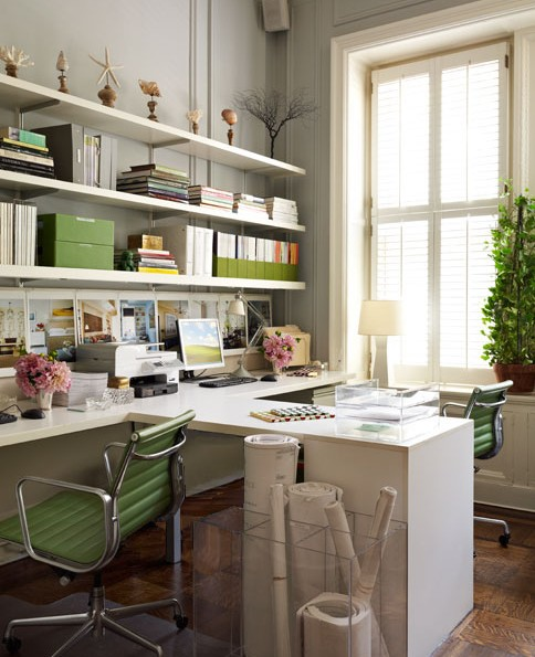 a shared home office twoinspiredesign