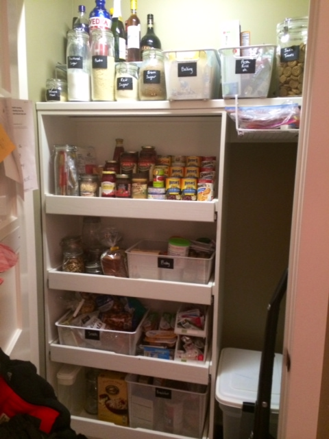 Pantry After organizing