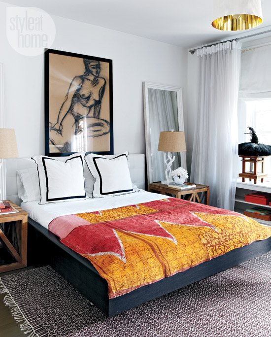 Style at Home eclectic-exotic-bedroom
