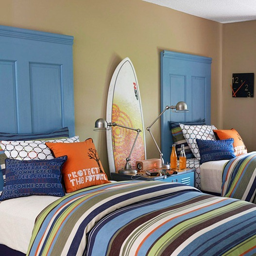 Blue And Orange Boys Room Twoinspiredesign