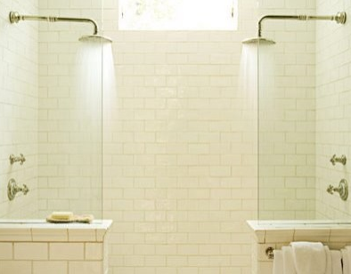 Double Shower Half Gl Wall